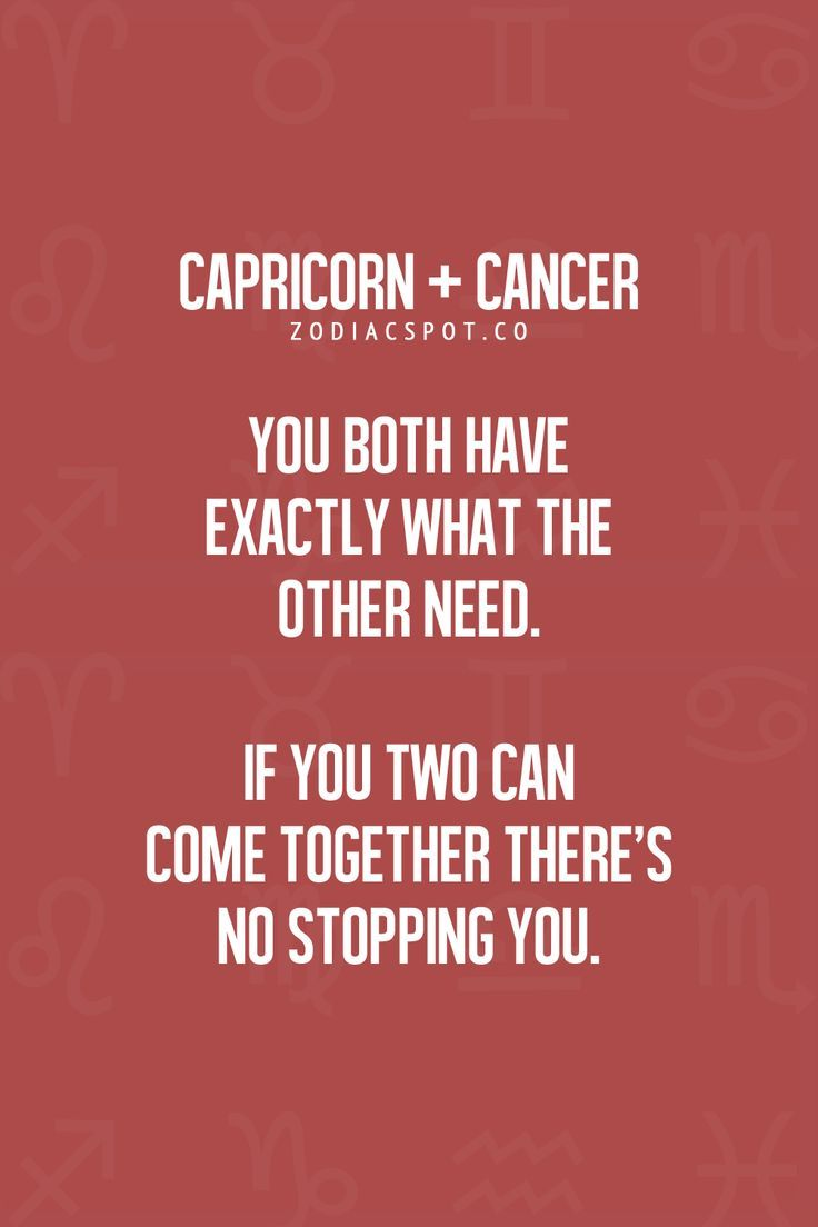 Soulmate Quotes Compatibility Of Capricorn Cancer Zodiac Sign