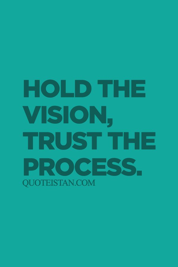 Trust Quotes Hold The Vision Trust The Process Quotes Of