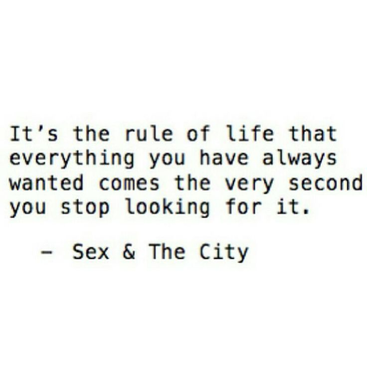 Sex and the city famous quote