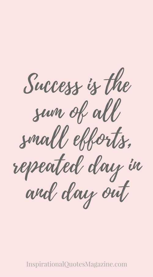 Inspirational Quotes Of The Day For Work: Inspirational Quotes About Work : Success Is The Sum Of