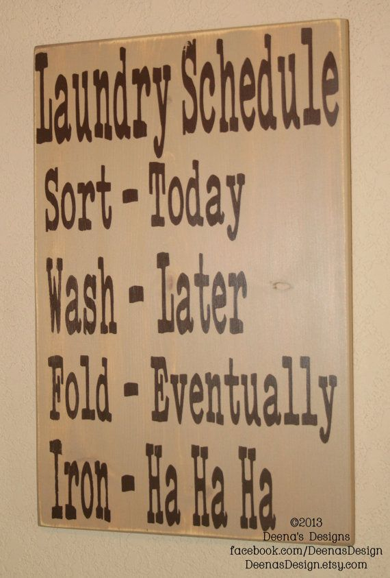 Distressed Laundry Sign Best Funny Quotes  Laundry Schedule Laundry Room Decor Laundry
