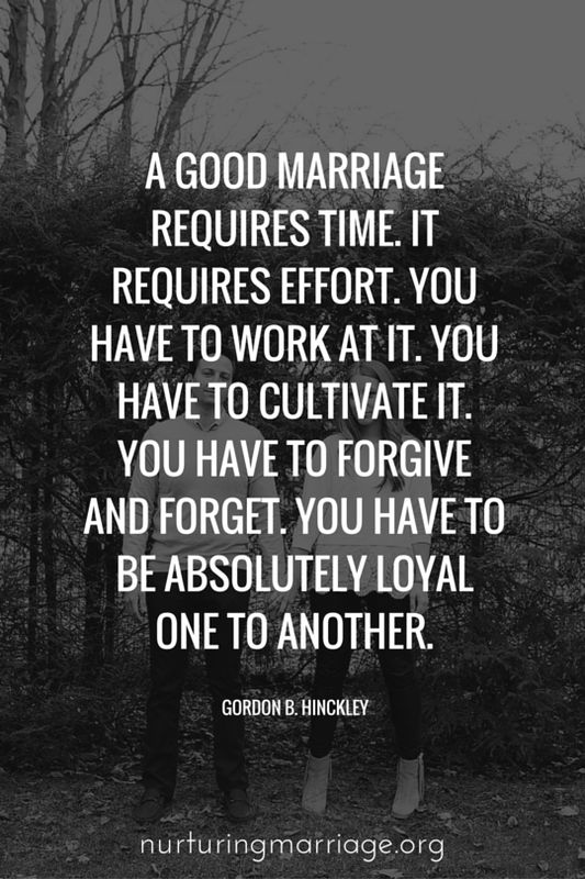 Love Quotes : A good marriage requires time. It requires effort