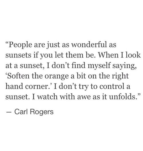 Love Quotes Carl Rogers People Are Just Wonderful As Sunset
