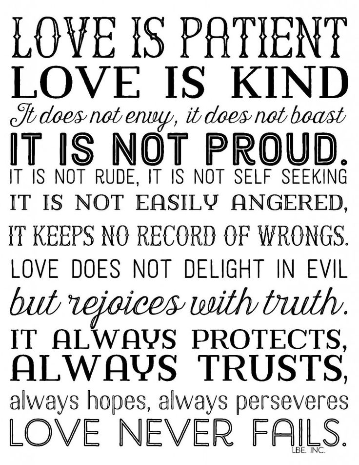 Printable Love Quotes Best Love Quotes  Love Is Patient Love Is Kindfree Printable In 3