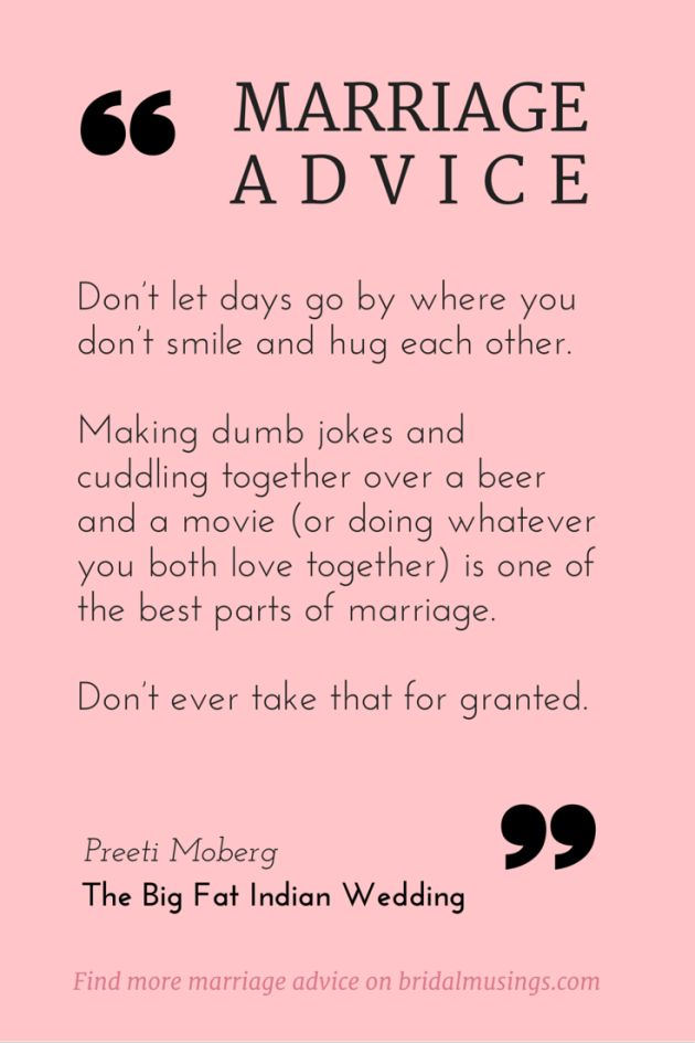 Love Quotes : Marriage advice from Preeti Moberg (editor of The Big ...