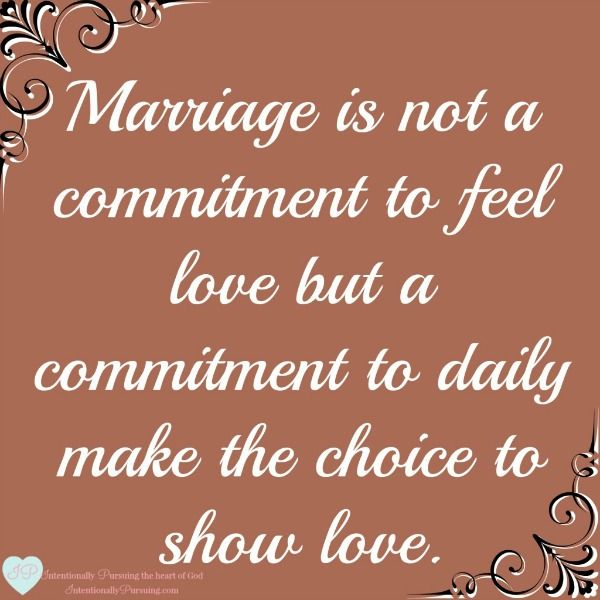Love Quotes Marriage Is Not A Commitment To Feel Love But A