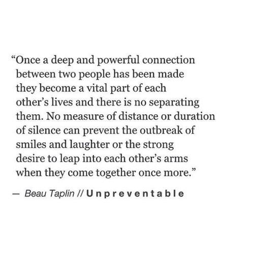 Love Quotes : Once a deep & powerful connection between two people