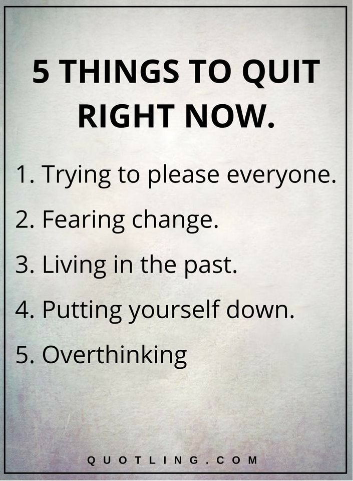 Image result for 5 things to quit right now quotes