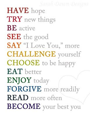 Wisdom Quotes : New Year Resolutions Printable | Quotes of the Day ...