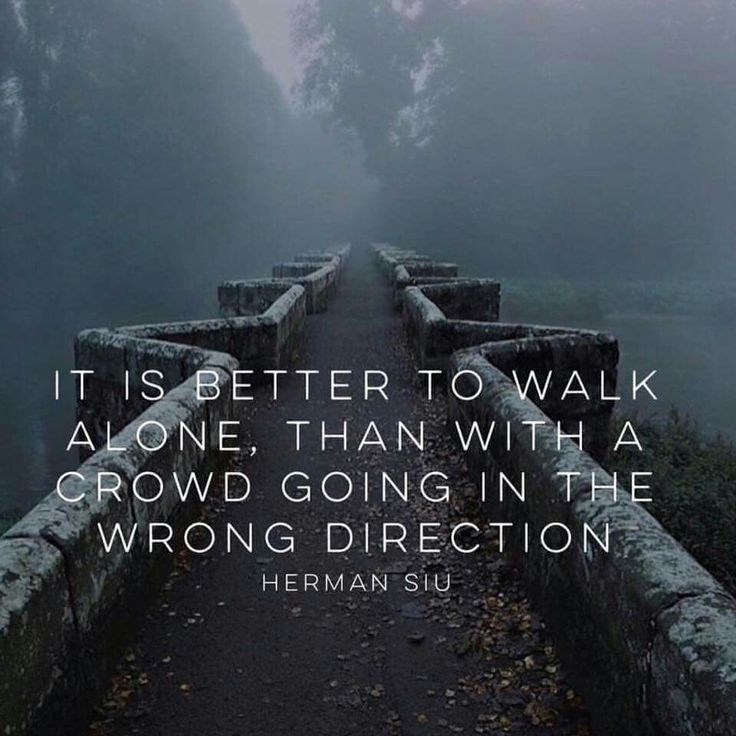 Wisdom Quotes Its Better To Walk Alone Than With A Crowd Going