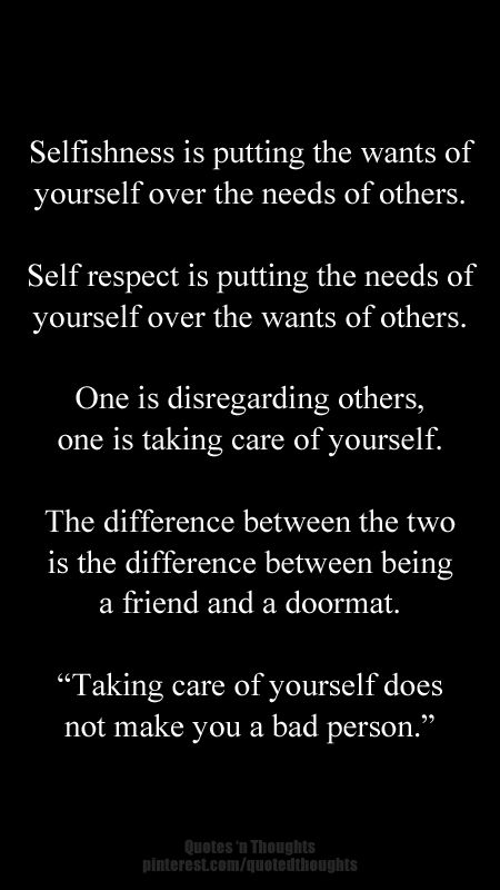 Taking Care Of Yourself Does Not Make You A Bad Person Quote