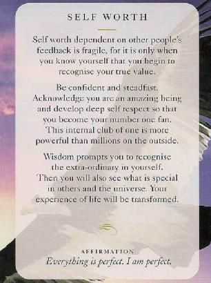 Todays Wisdom Card Affirmation Self Worth Everything Is