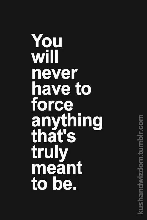 Motivational Quotes You Will Never Have To Force Anything That Is