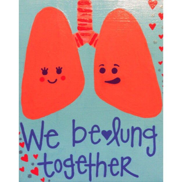 Medical Pun We Be Lung Together Love Romance By