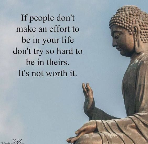 Best Positive Quotes If People Dont Make An Effort To Be In Your