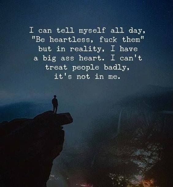 Best Positive Quotes In Reality I Have A Big Heart Quotes Of