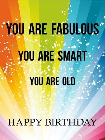 Birthday Quotes Fabulous Smart And Happy Birthday Card Say