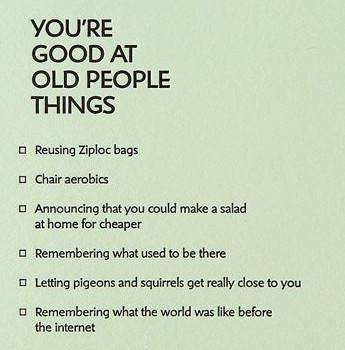 Birthday Quotes Old People Things Letterpress Card Quotes Of The Cool Old People Quotes