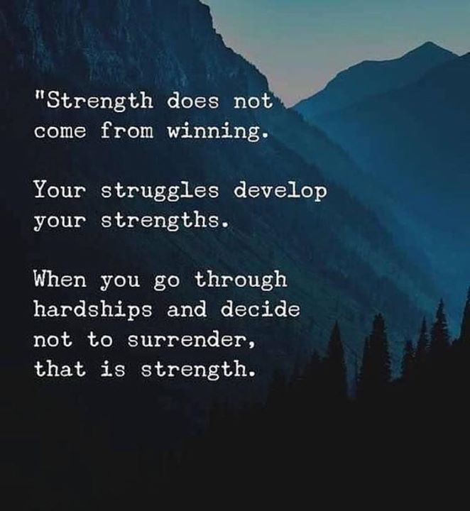 Developing Strength Motivational Quote: Best Positive Quotes : Strength Does Not Come From Winning