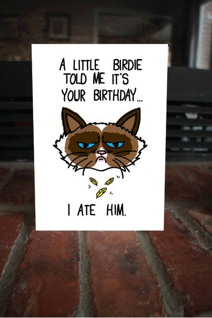 As The Quote Says Description Funny I Ate Him Birthday Card