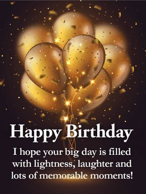 Golden Balloon Happy Birthday Wishes Card For Grandson This Sleek And Sophistic