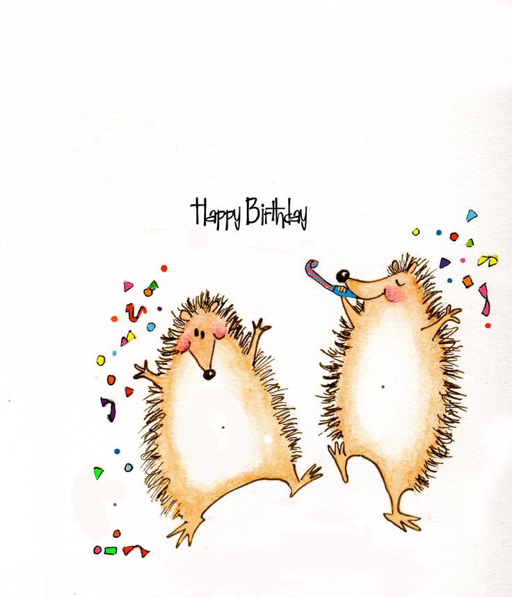 Quotes About Birthday Iiiii Happy Birthday Cute Hedgehogs