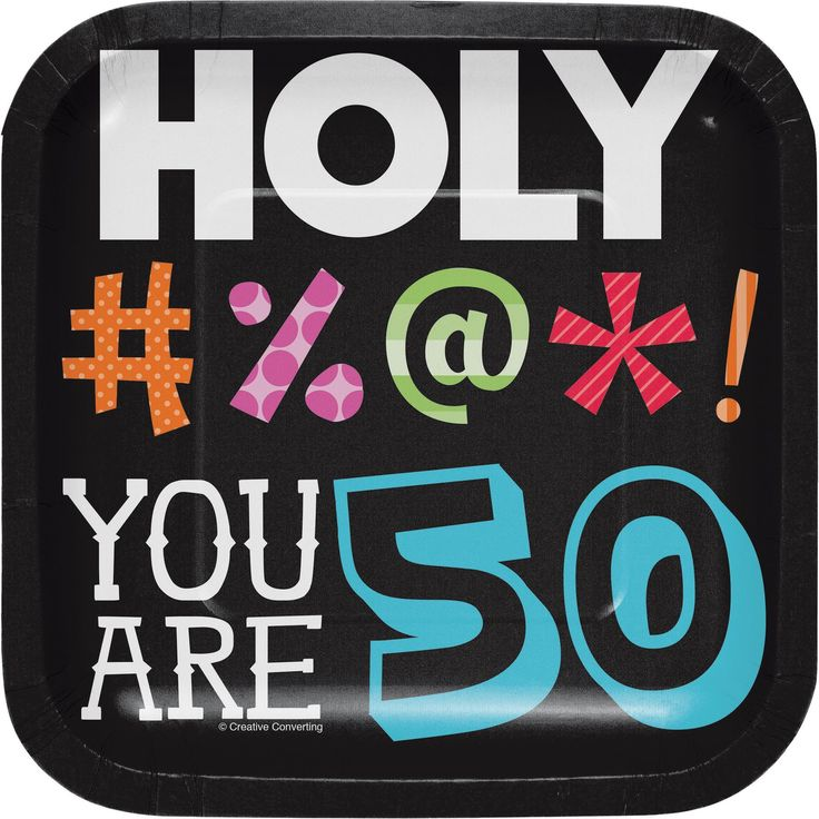 Birthday Quotes Holy Bleep 60th 60'' Luncheon Plate Sq 60case Enchanting Sq Quote