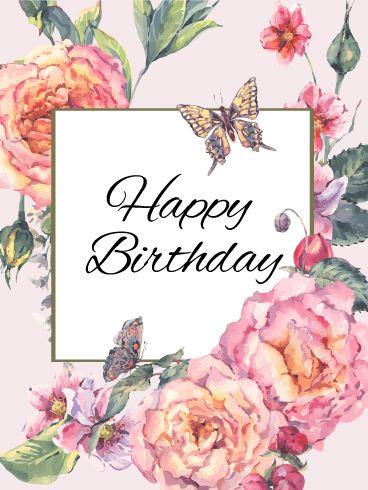 Birthday Quotes Send Free Elegant Flower Happy Birthday Card To