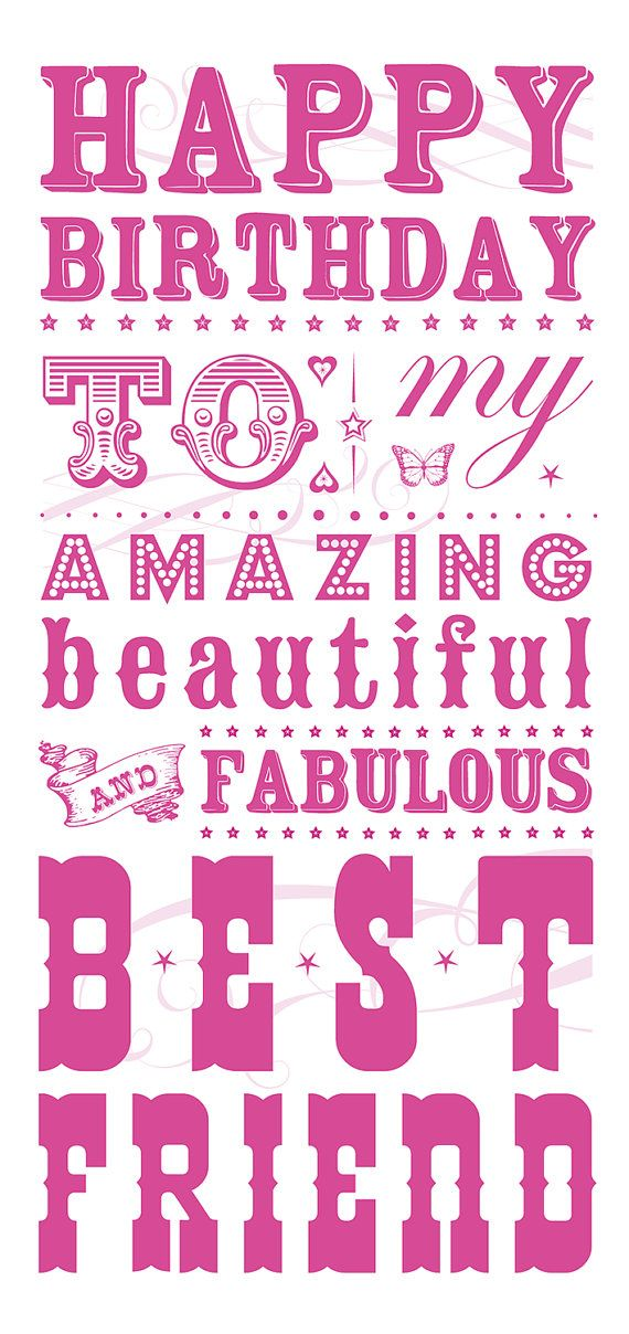 Quotes About Birthday Happy Birthday Best Friend Card By