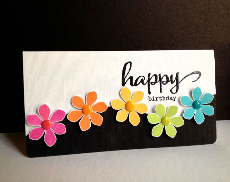 Quotes About Birthday Handmade Card Happy Flowers Happy