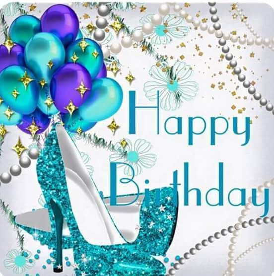 Birthday Quotes Happy Birthday Sparkle Shoes Balloons Quotes