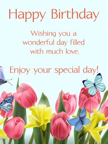 As The Quote Says Description Send Free Happy Spring Birthday Card