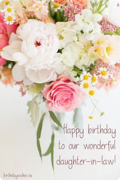 Birthday Quotes Birthday Wishes For Daughter In Law Quotes Of