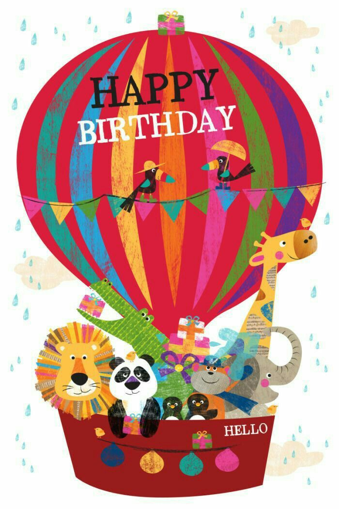 As The Quote Says Description Happy Birthday Hot Air Balloon