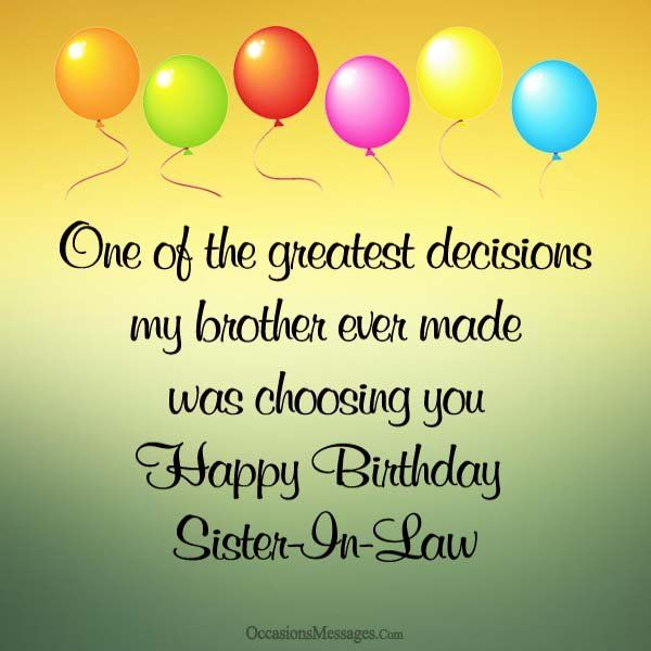 As The Quote Says Description Happy Birthday Sister In Law