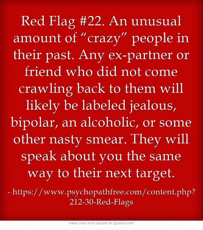 Success Quotes Red Flag 22 An Unusual Amount Of Crazy People