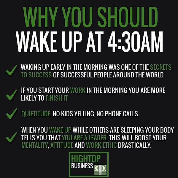 Success Quotes You May Not Want To Do It But Getting Up Early Is A
