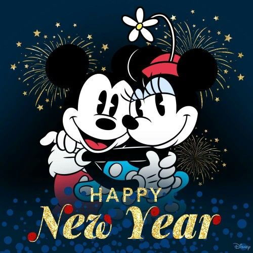 Happy New Year 2019 Happy New Year Con Minnie Mouse Y Mickey