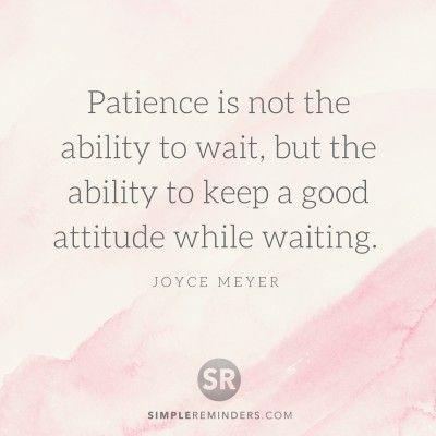 Wisdom Quotes Joyce Meyer Patience Ability Wait 3e8u Simple