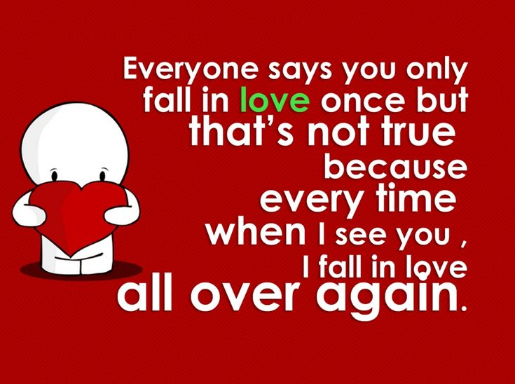 Valentines Day Quotes I Fall In Love Everytime I See You Quote